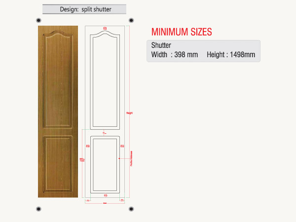 Wardrobe Door Series Split Shutter